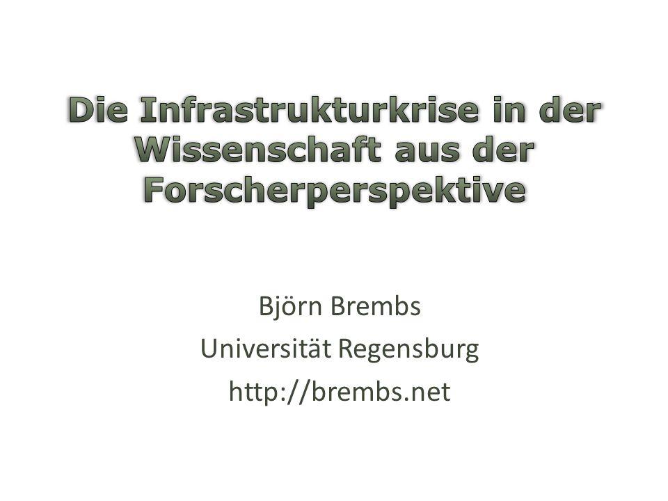 Die Infrastrukturkrise in der Wissenschaft aus der Forscherperspektive