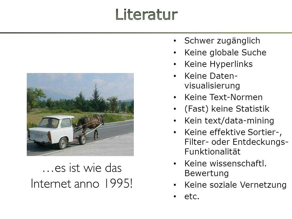 …es ist wie das Internet anno 1995!