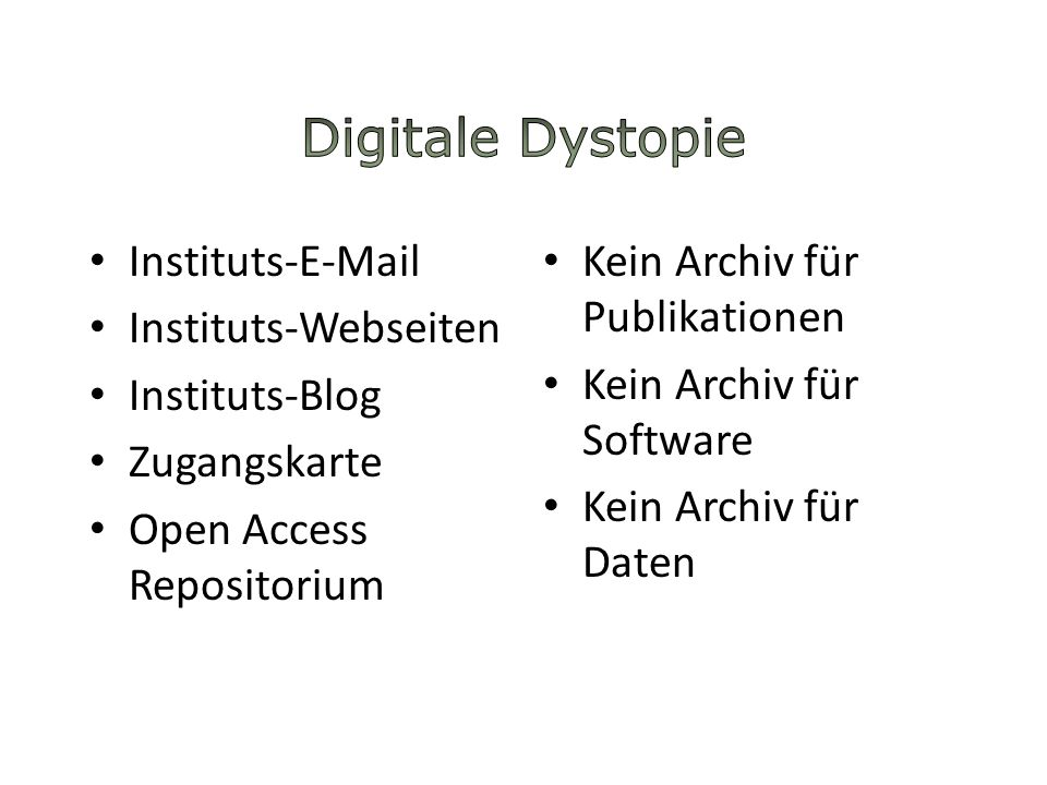 Digitale Dystopie Instituts-E-Mail Instituts-Webseiten Instituts-Blog