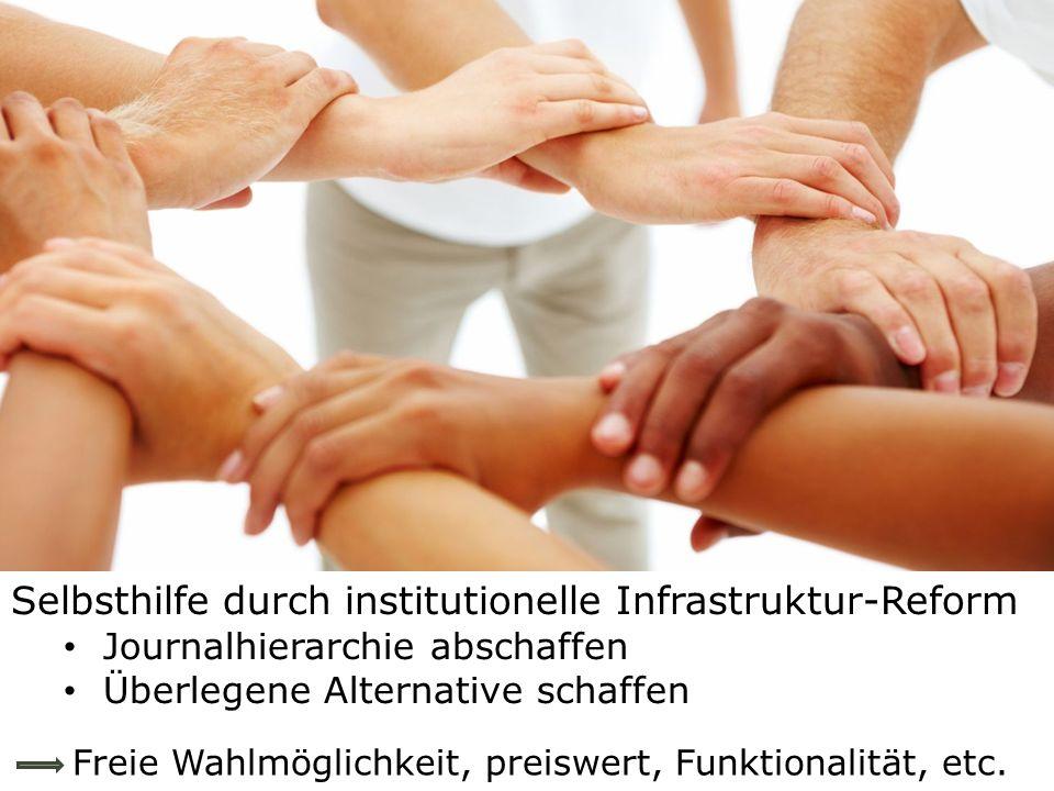Selbsthilfe durch institutionelle Infrastruktur-Reform
