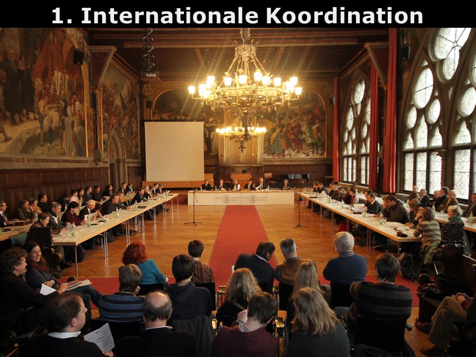 1. Internationale Koordination