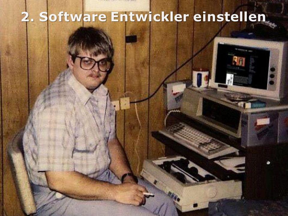 2. Software Entwickler einstellen