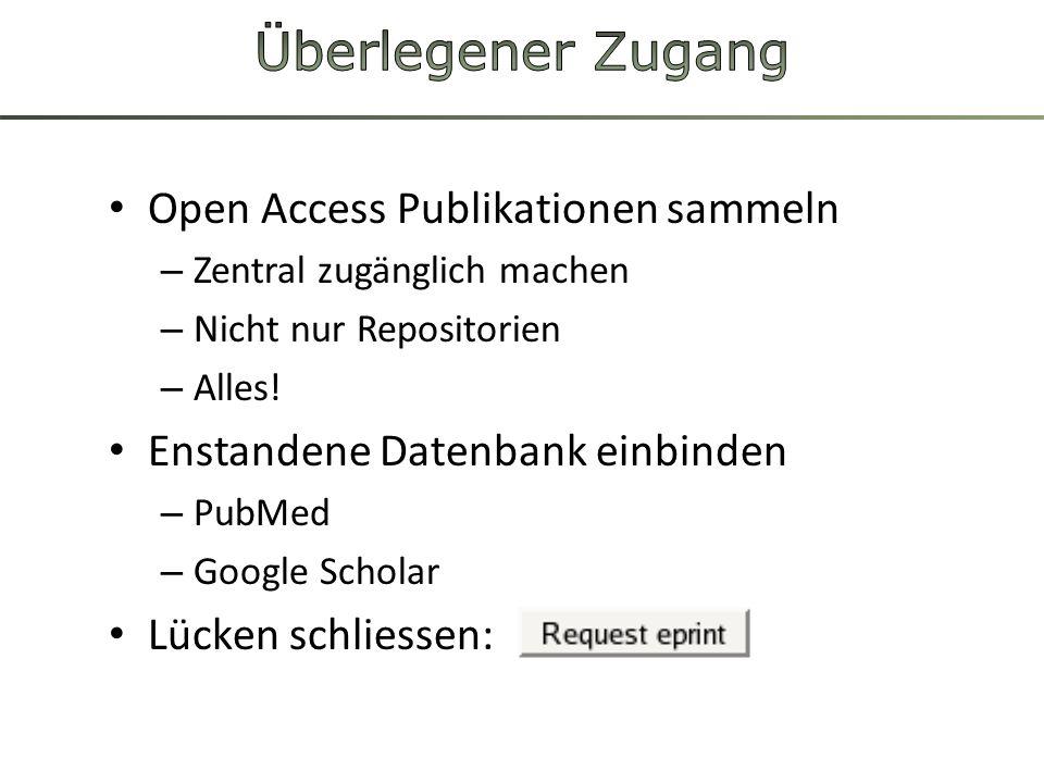 Überlegener Zugang Open Access Publikationen sammeln