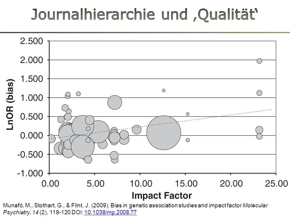Journalhierarchie und 'Qualität'