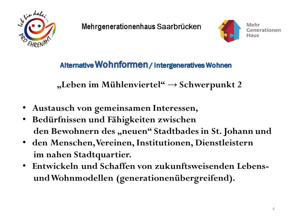 """""""Leben im Mühlenviertel → Schwerpunkt 2"""