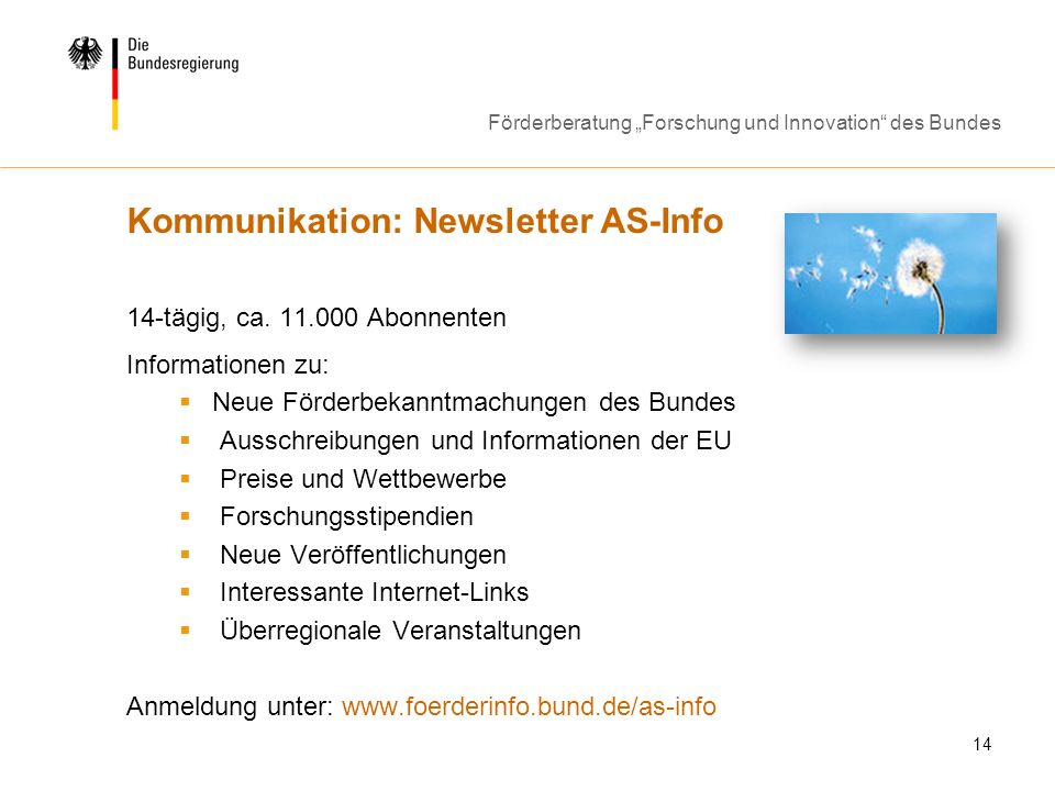 Kommunikation: Newsletter AS-Info