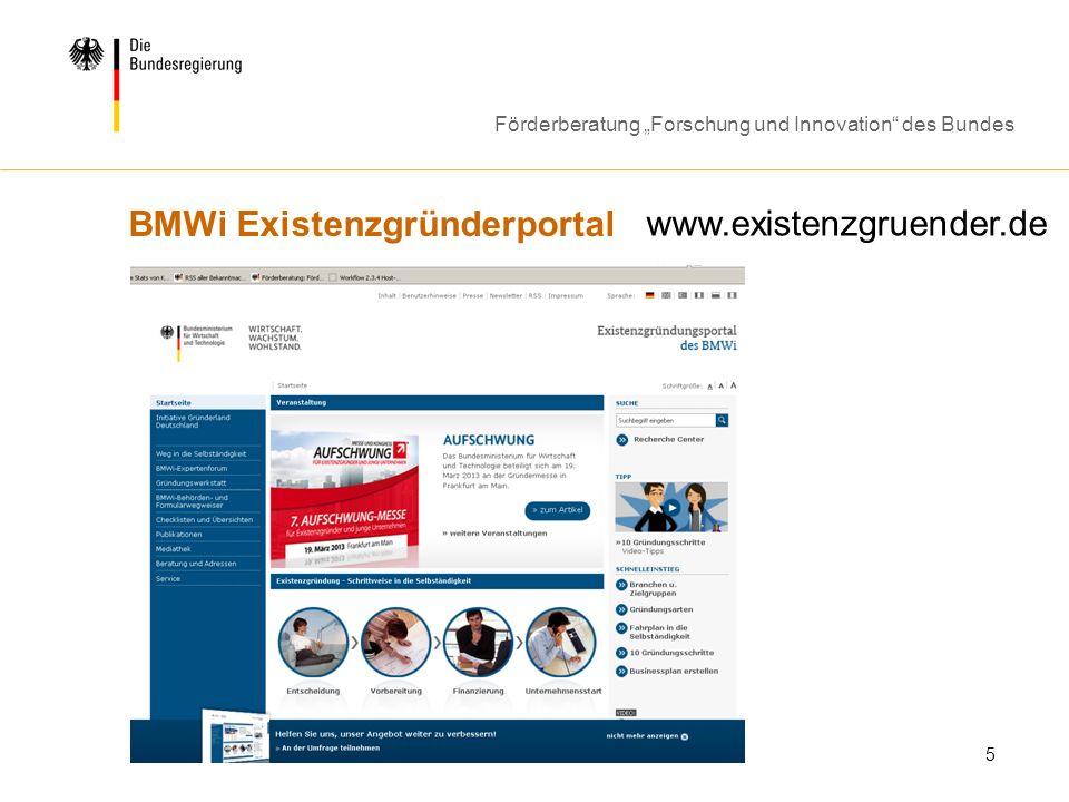 BMWi Existenzgründerportal