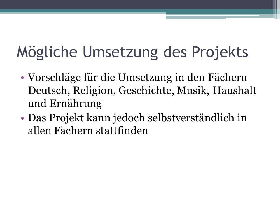 Mögliche Umsetzung des Projekts
