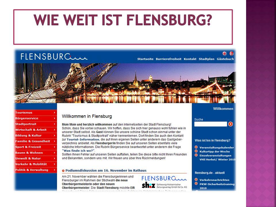 Wie weit ist Flensburg