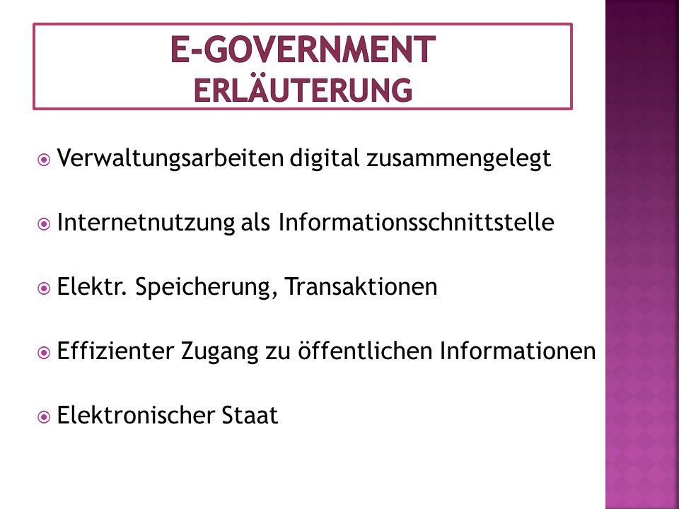 E-Government Erläuterung