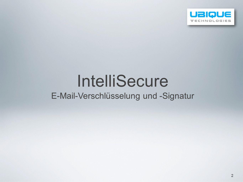 E-Mail-Verschlüsselung und -Signatur