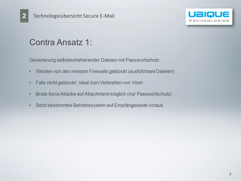 Contra Ansatz 1: 2 Technologieübersicht Secure E-Mail