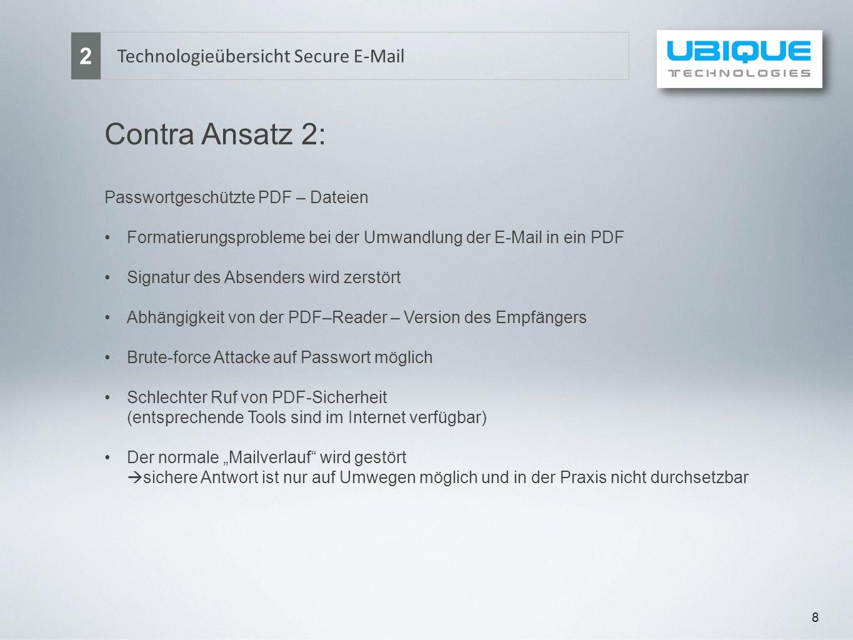 Contra Ansatz 2: 2 Technologieübersicht Secure E-Mail