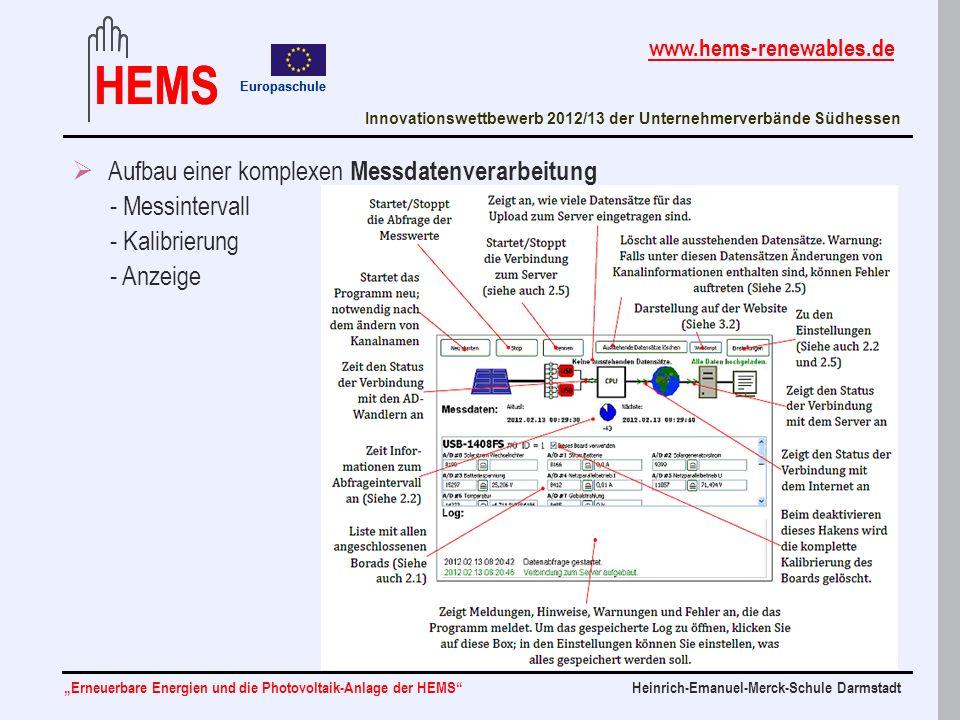 Aufbau einer komplexen Messdatenverarbeitung - Messintervall