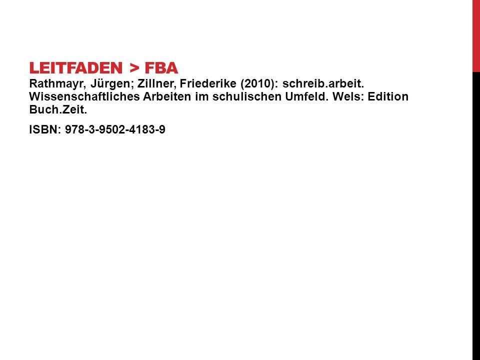Leitfaden > FBA
