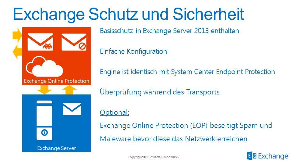 Exchange Schutz und Sicherheit