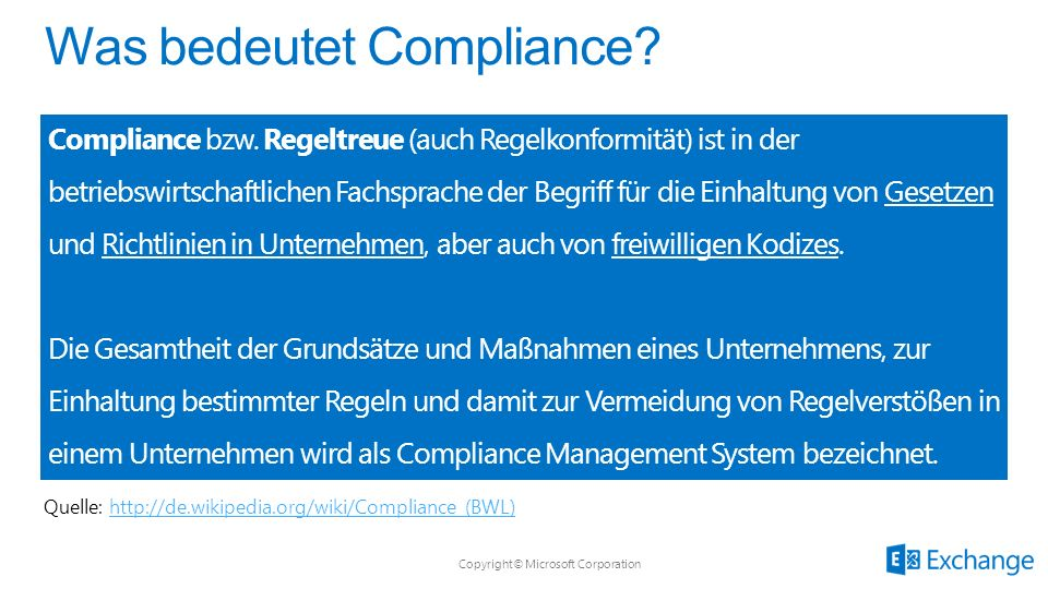 Was bedeutet Compliance