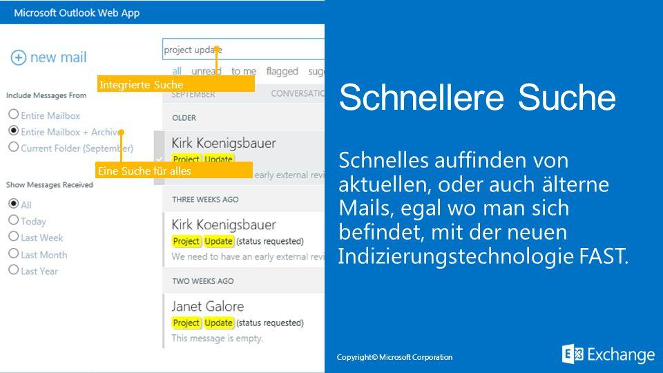 Microsoft Exchange 3/28/2017. Integrierte Suche. Schnellere Suche.