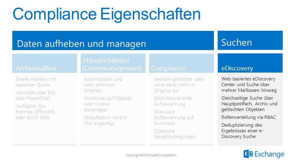 Compliance Eigenschaften