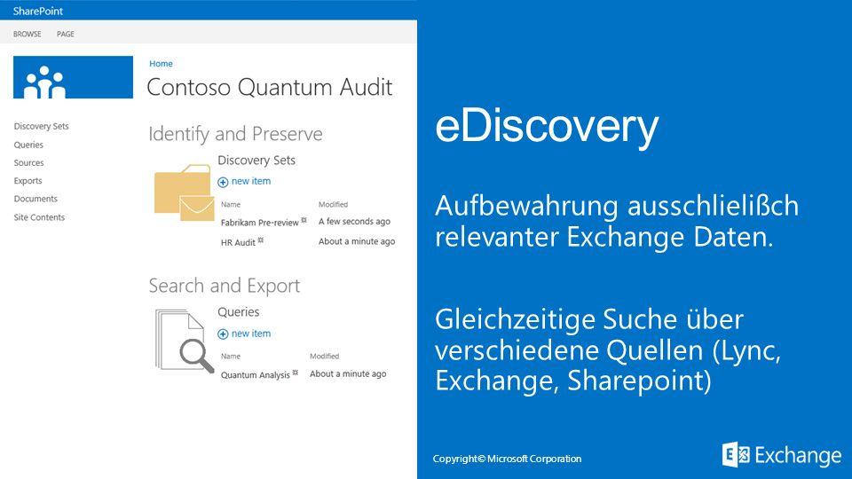 Microsoft Exchange 3/28/2017. eDiscovery.