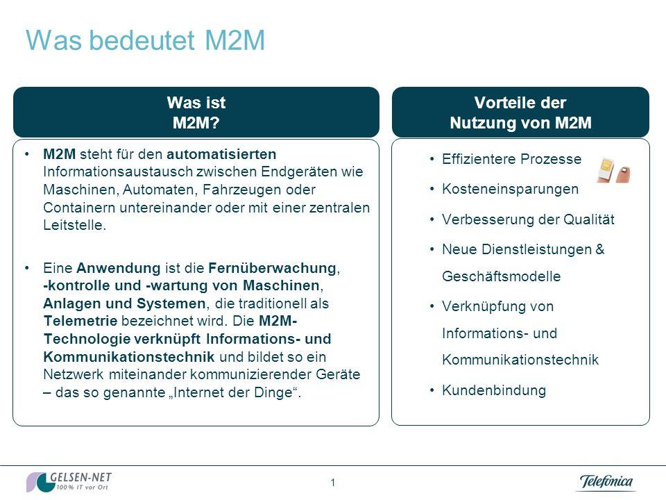 Was bedeutet M2M Was ist M2M Vorteile der Nutzung von M2M