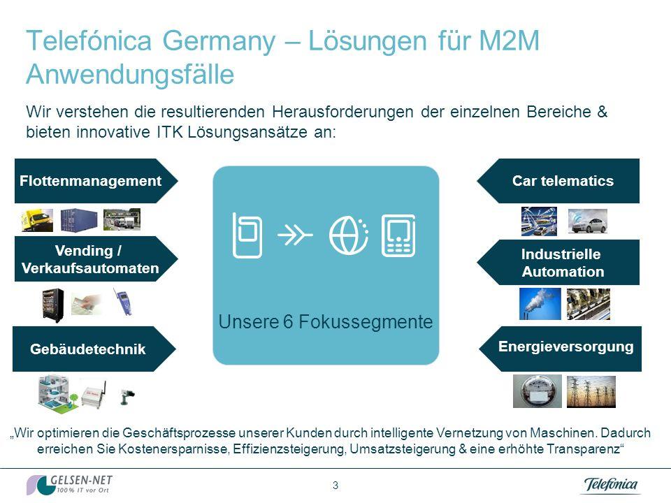 Telefónica Germany – Lösungen für M2M Anwendungsfälle