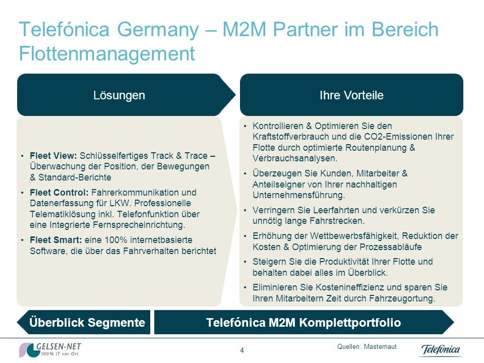 Telefónica Germany – M2M Partner im Bereich Flottenmanagement
