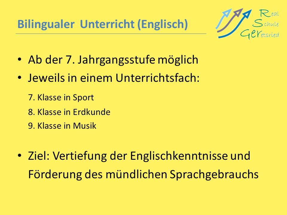 Bilingualer Unterricht (Englisch)