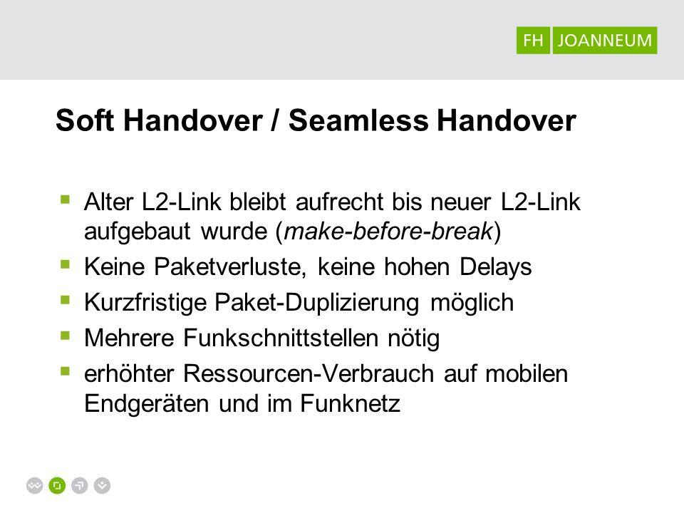 Soft Handover / Seamless Handover