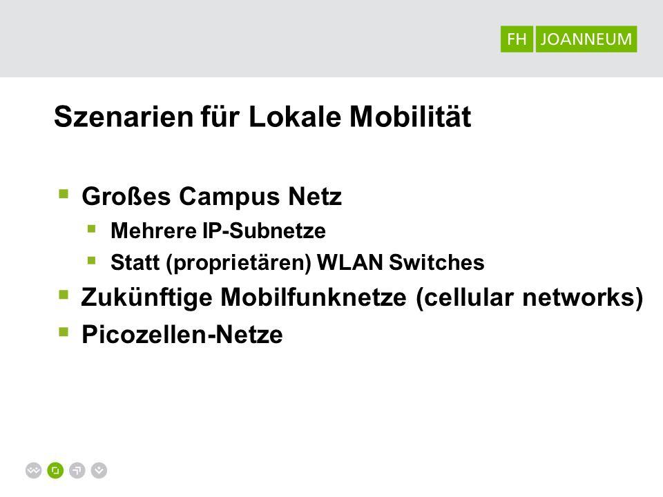 Szenarien für Lokale Mobilität
