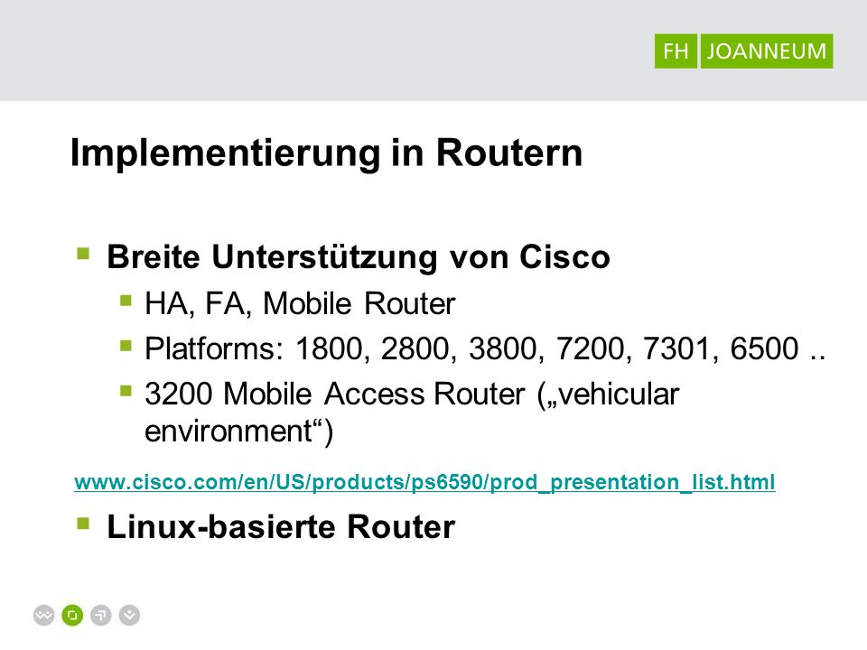 Implementierung in Routern