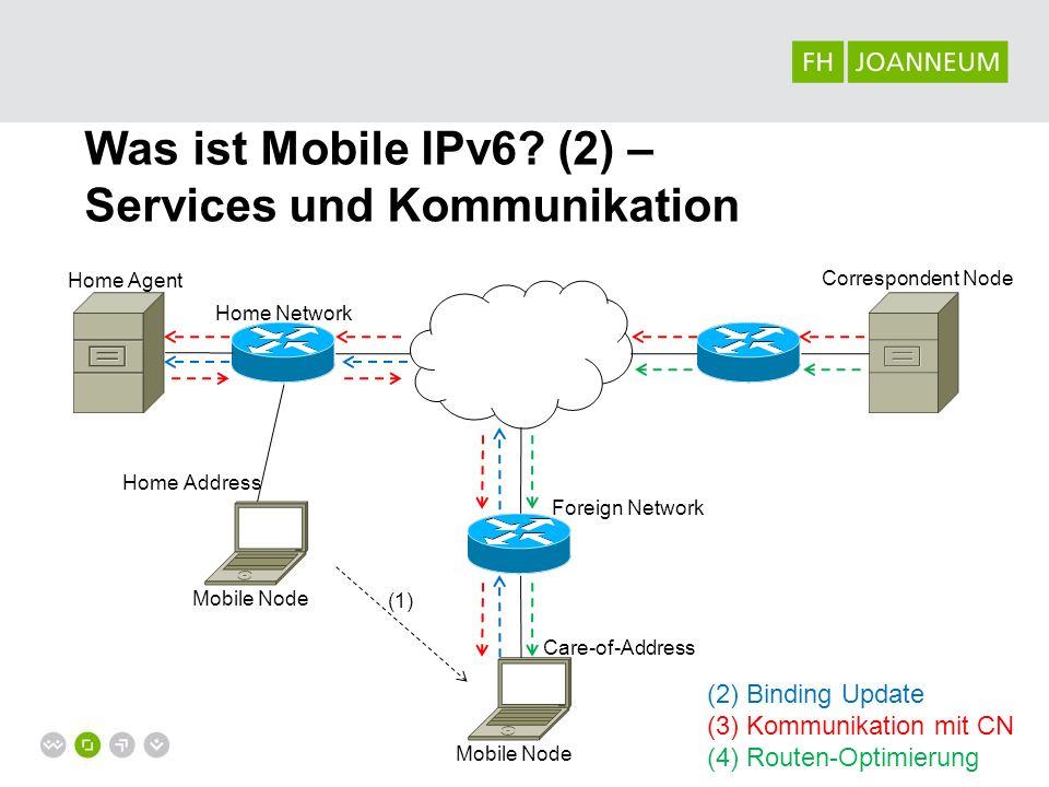 Was ist Mobile IPv6 (2) – Services und Kommunikation