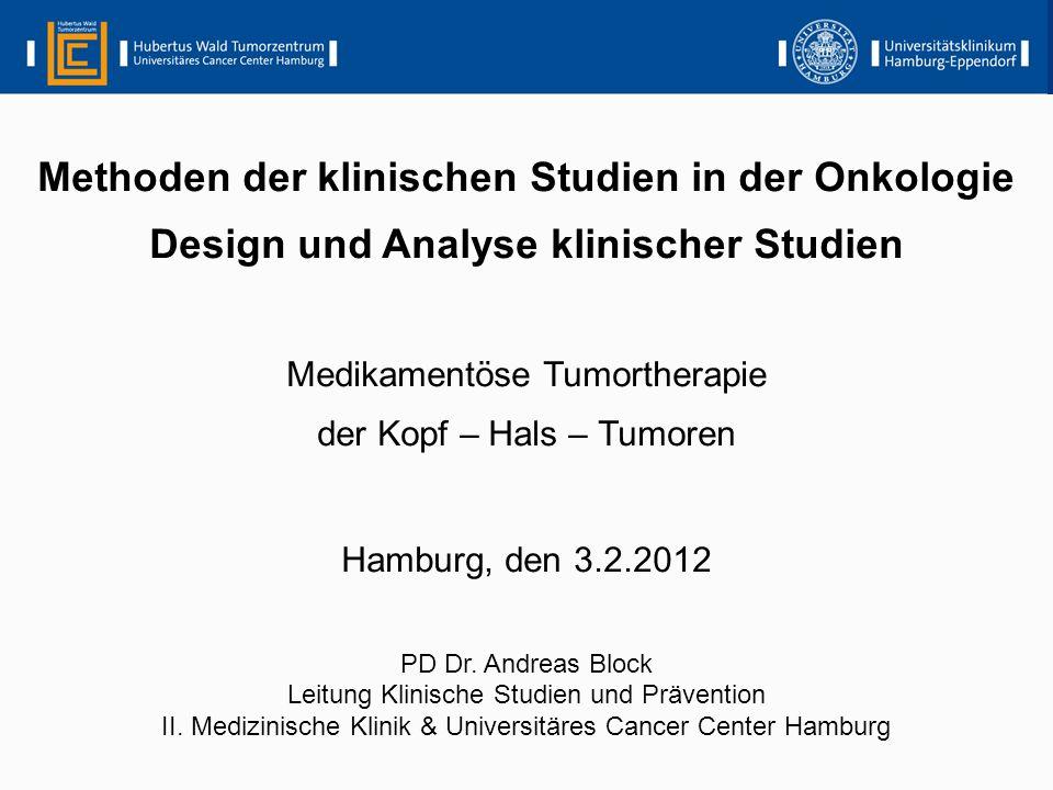Methoden der klinischen Studien in der Onkologie