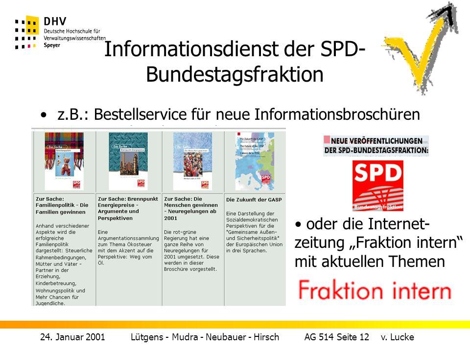 Informationsdienst der SPD-Bundestagsfraktion
