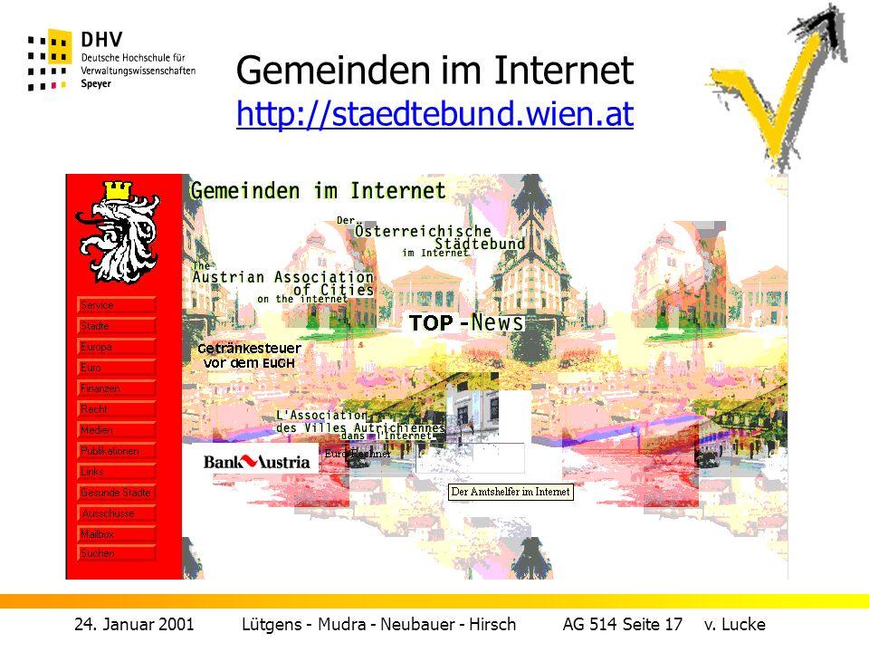 Gemeinden im Internet http://staedtebund.wien.at