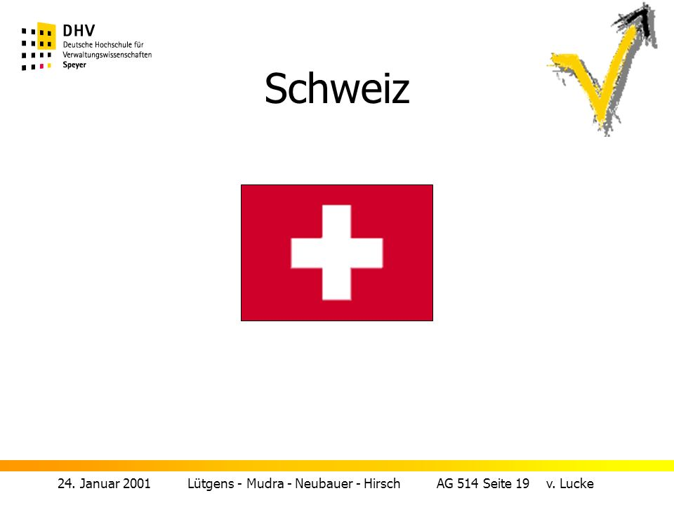 Schweiz 24. Januar 2001 Lütgens - Mudra - Neubauer - Hirsch AG 514 Seite 19 v.
