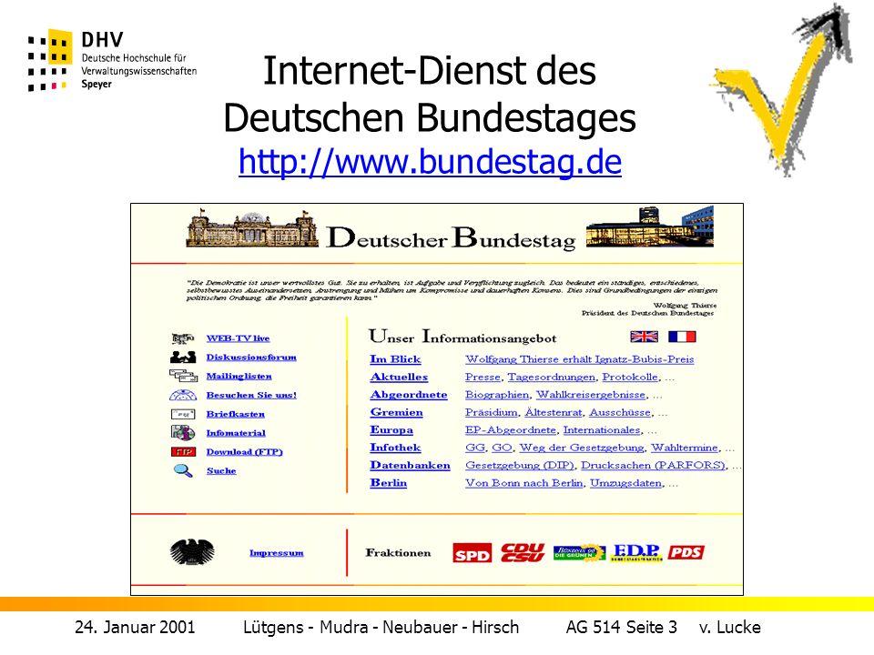 Internet-Dienst des Deutschen Bundestages http://www.bundestag.de