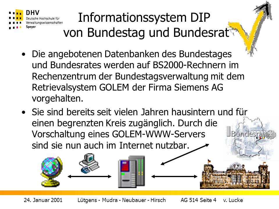 Informationssystem DIP von Bundestag und Bundesrat