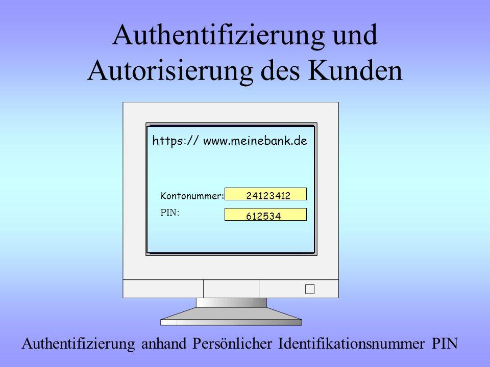 Authentifizierung und Autorisierung des Kunden