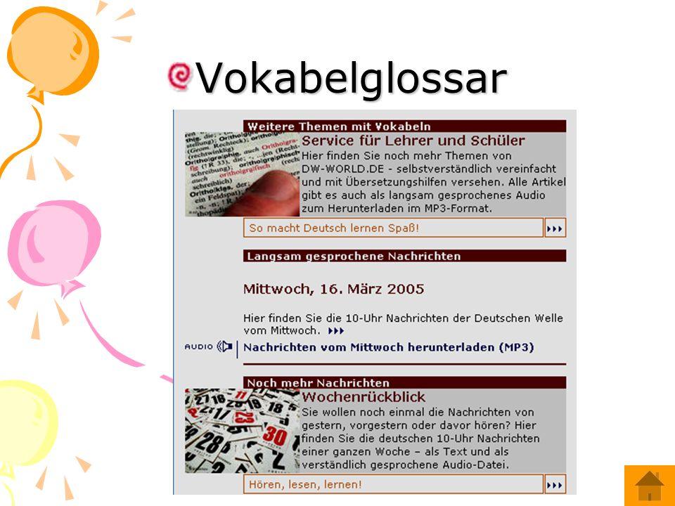 Vokabelglossar
