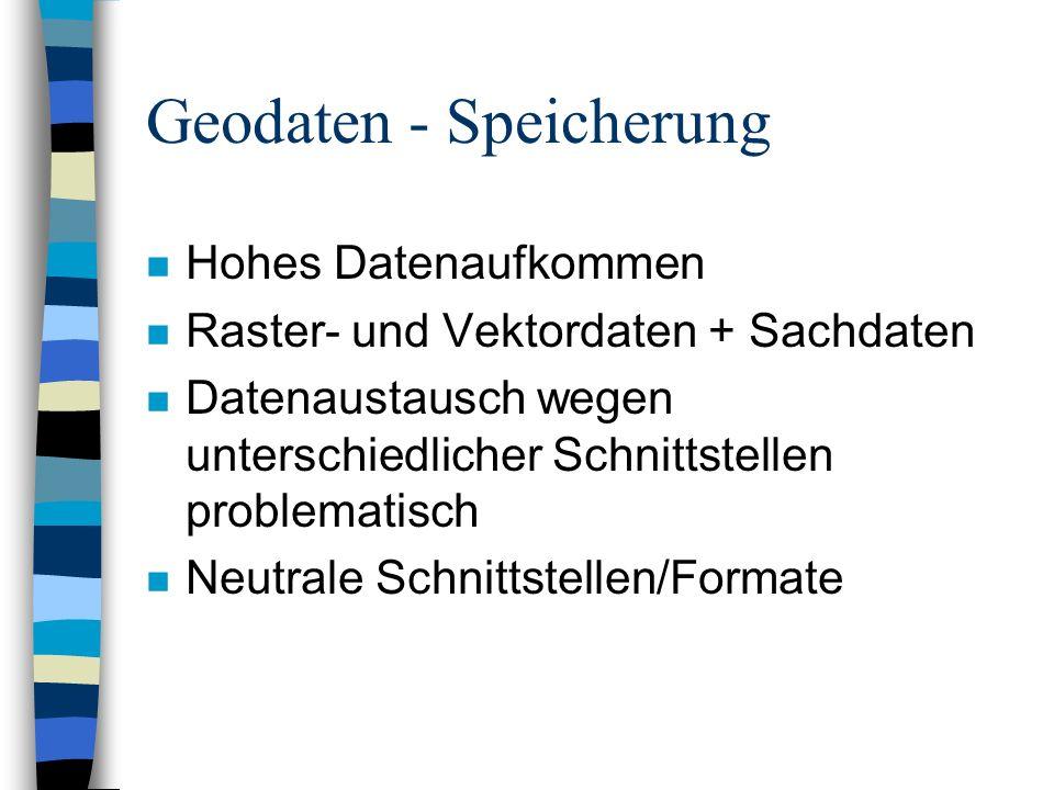 Geodaten - Speicherung