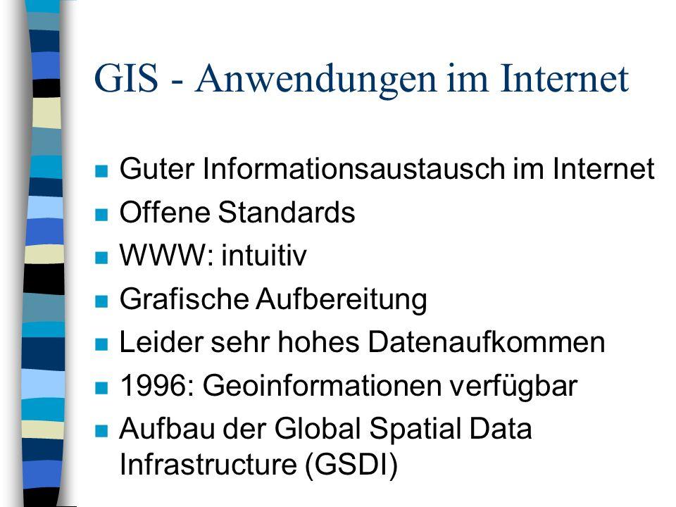 GIS - Anwendungen im Internet