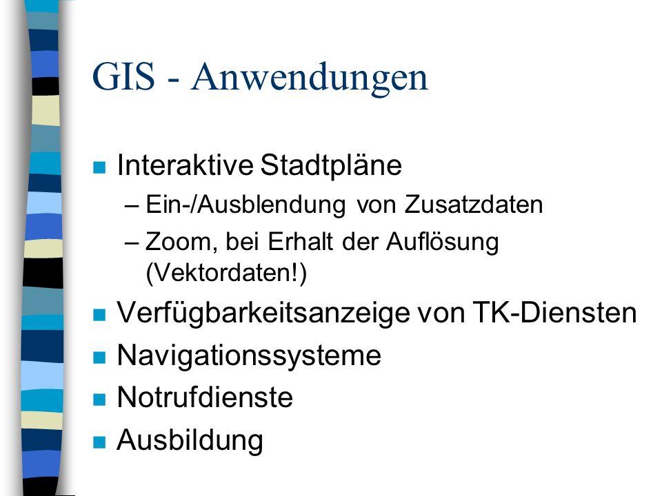 GIS - Anwendungen Interaktive Stadtpläne