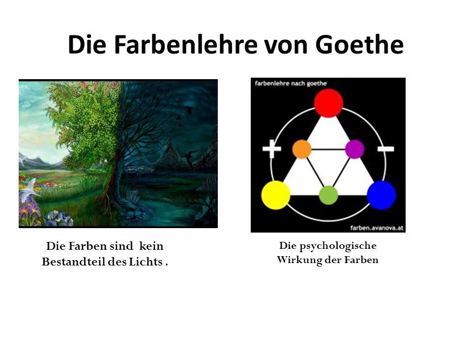 Die Farbenlehre von Goethe