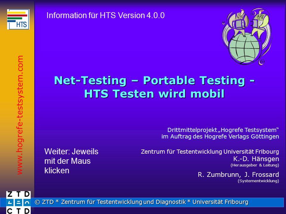 Net-Testing – Portable Testing - HTS Testen wird mobil
