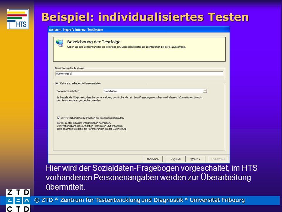 Beispiel: individualisiertes Testen