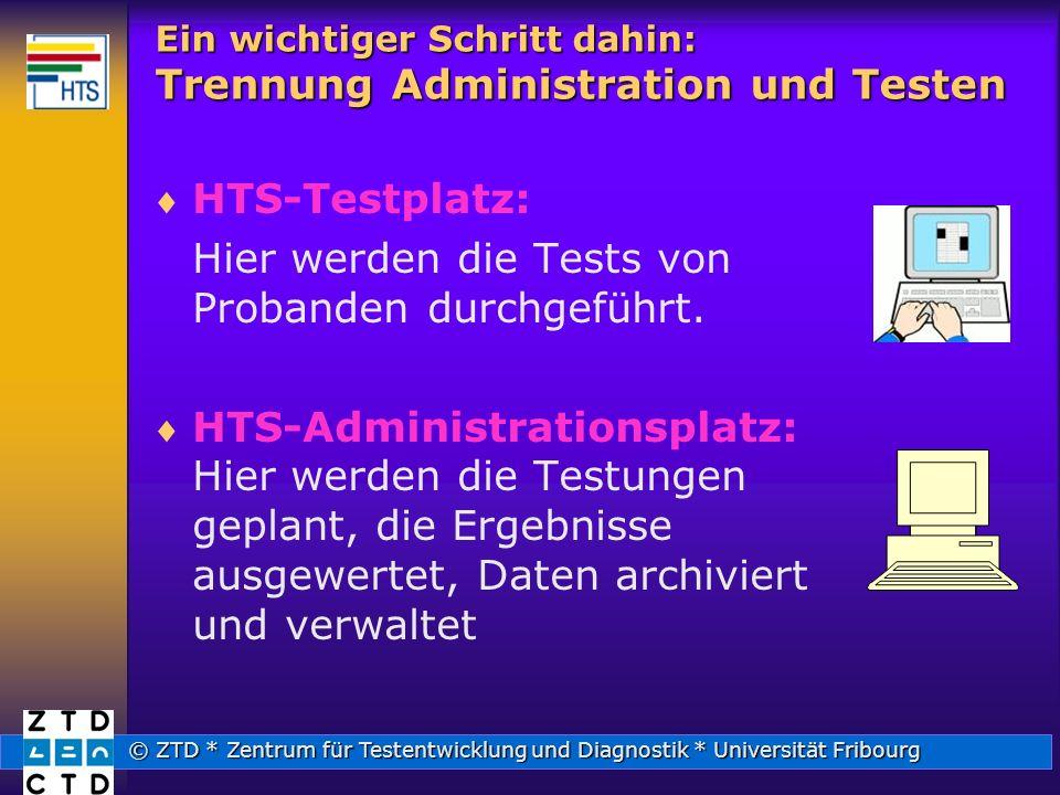 Ein wichtiger Schritt dahin: Trennung Administration und Testen