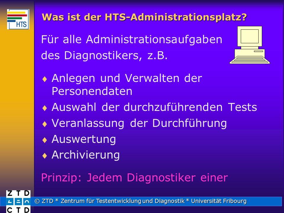 Was ist der HTS-Administrationsplatz