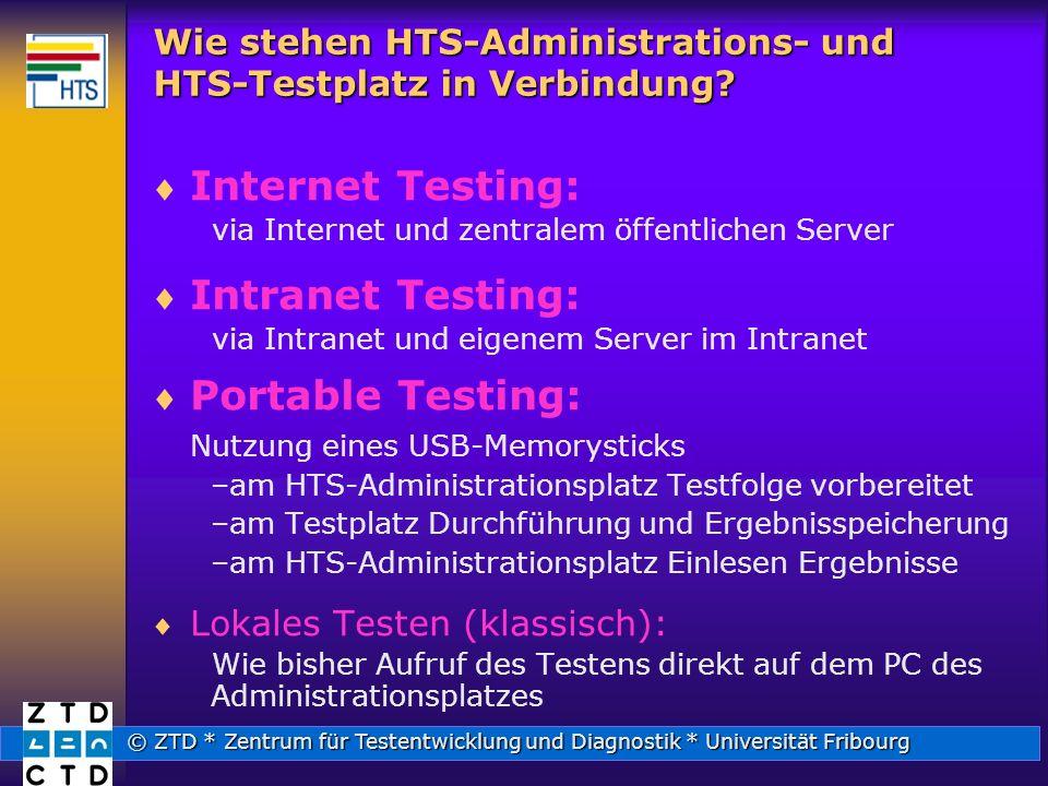 Wie stehen HTS-Administrations- und HTS-Testplatz in Verbindung