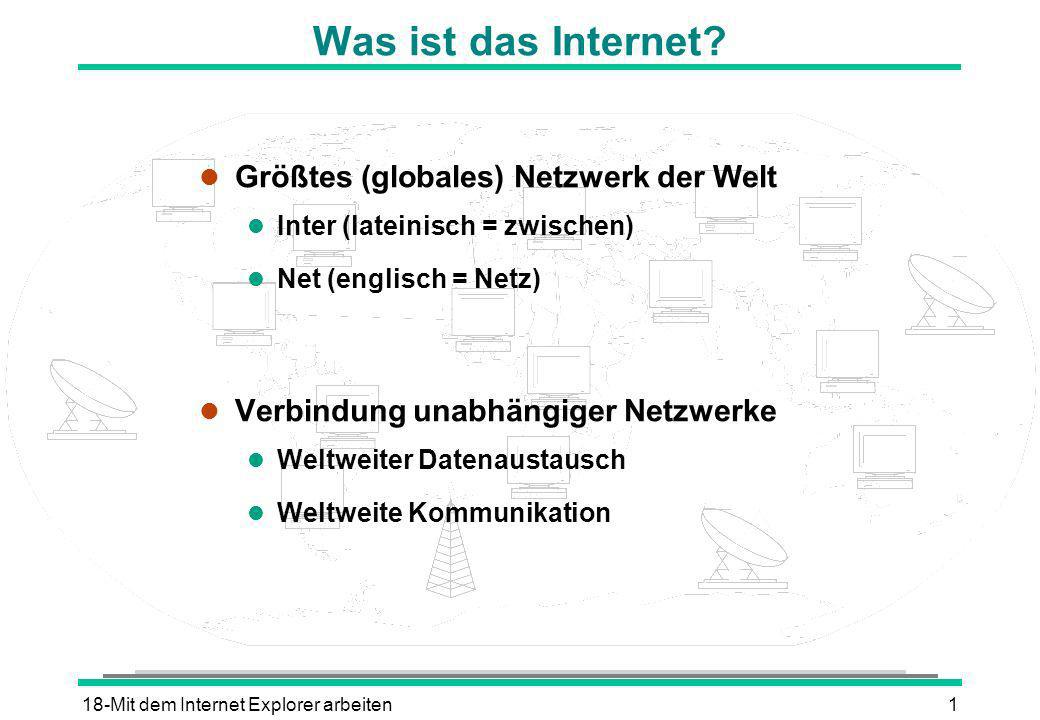 Was ist das Internet Größtes (globales) Netzwerk der Welt